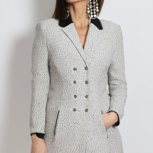 ST. JOHN Collection Grey Double Breasted Coat